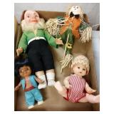 Two doll babies leprechaun and scarecrow