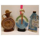 3 whiskey decanters