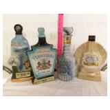(4) whiskey decanters
