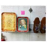Antique serving tray, Coca Cola tin serving tray
