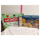 Monopoly and Family Feud board game