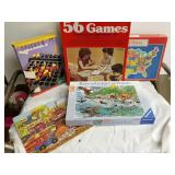 Puzzles and games. 5 piece lot