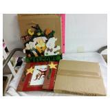 Box of Christmas bags and Halloween friends door