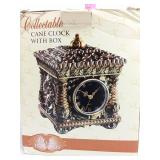 Cane clock with box
