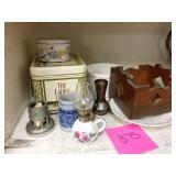 9 piece tin and mini lantern lot