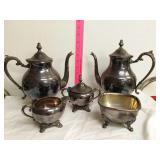 5 piece B. Rogers silver company tea serving set