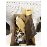 Plastic tote with misc. items