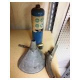 Welding bottle and funnel