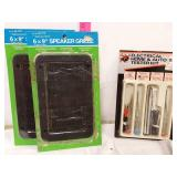 2 speaker grills and electrical tester kit