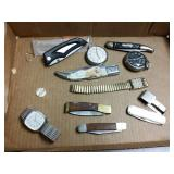 11 piece pocket knifes and watches