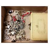 Costume jewelry and box