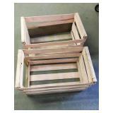 2 wooden crates