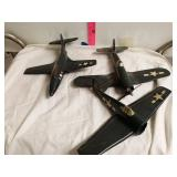 3 old air force planes