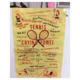Tennis cry towel