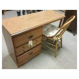 3 drawer desk and chair