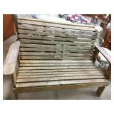 Wood bench. Needs work