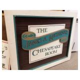 The James A. Michener Chesapeake Room sign