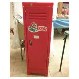 Lil sport locker with football helmets and pads