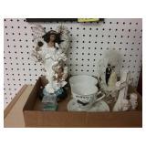 8 piece box lot. One figurine, cake topper,
