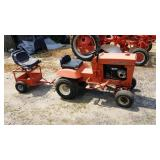 Jacobsen MFG Tractor With Pull Along Cart Painted