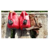 IH Starter And 2 Gas Cans