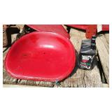 IH Tractor Seat And 2 Bottles Of Oil