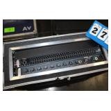 Rack with (1) Shure SCM810 Mixer,