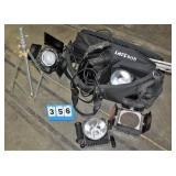 "Mixed Lot (2) PhotoLite 5"" Stage Lights,"