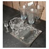 ICED TEA STEMS, ART GLASS DIVIDED DISH, AND MORE