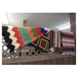 FOUR BLANKETS INCLUDING HAND CROCHETED