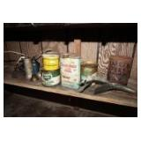 OLD OIL CANS, POUR SPOUTS, AND OILERS