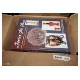 BOX LOT FILLED WITH COLLECTOR BOOKS INCLUDING FENTON, ANTIQUES, CARNIVAL GLASS, AND MUCH MORE