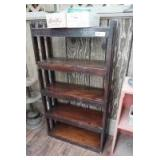 SOLID WOOD OPEN BOOKCASE