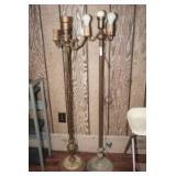 OLD METAL FLOOR LAMPS