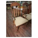 VINTAGE DINING CHAIR SET INCLUDING ARMCHAIR AND 5 SIDE CHAIRS