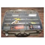 VINTAGE PLANO DUAL-LEVEL TACKLE BOX AND CONTENTS