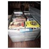 VERY LARGE TUB FILLED WITH DVD MOVIES