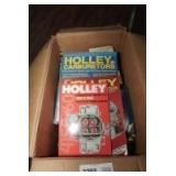 BOX LOT OF BOOKS INCLUDING JFK ASSASSINATION, LINCOLN, HOLLEY CARBURETOR MANUALS, AND MORE