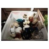 BOX FILLED WITH COLLECTIBLE VINTAGE AVON PERFUME BOTTLES AND MORE