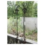 DECK RAIL CLAMP-ON TIKI TORCH HOLDERS AND SHEPHERD