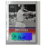 2015 Stan Musial Signed All Century Team Card