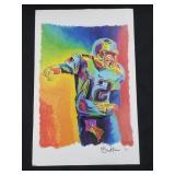 New England Patriots Tom Brady Artist Signed Print