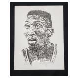 Scottie Pippen Artist Signed Phillip Glosser /1000