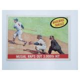 1959 Topps Stan Musial Raps Out 3000th Hit #470