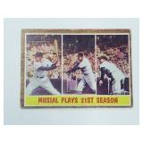 1962 Topps Stan Musial Plays 21st Season #317