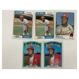 (5) Bob Gibson St. Louis Cardinals Cards