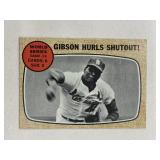 1968 Topps Bob Gibson Hurls Shutout Topps #154