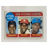 1969 Topps 1968 NL Pitching Leaders #10 Gibson