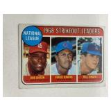 1969 Topps 1968 NL Strikeout Leaders #12 Gibson