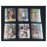(6) Michael Jordan Upper Deck Basketball Cards